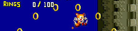 Tails loses rings